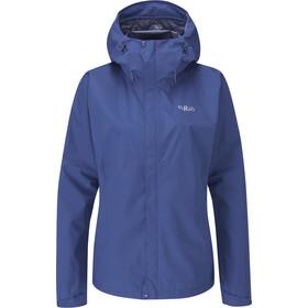 Rab Downpour Plus Jacket Women, niebieski